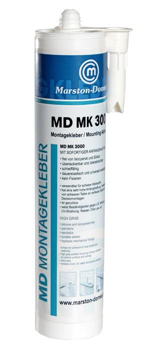 MD MK 3000 Montagekleber Kartusche 450g (Sofortige Anfangshaftung/Geruchsarm)