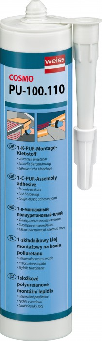 Weiss Chemie PU-100.110 1K PUR Montageklebstoff - Der Problemlöser